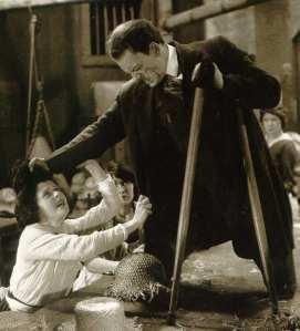 Lon Chaney as the vengeful amputee, Blizzard, in The Penalty