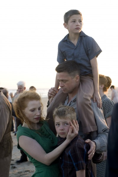 tree of life movie image brad pitt jessica chastain 02 Animal madness: A gymnast shows off her skills on a horse called Allie, ...