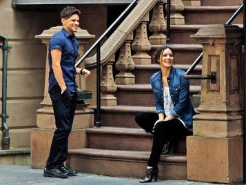 """Just so you know, I liked Brooklyn stoops before they were cool.""Image source:http://www.broadway.com/buzz/163179/get-a-first-look-at-newsies-jeremy-jordan-and-katharine-mcphee-on-the-steamy-set-of-smash/"
