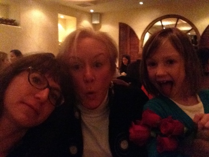 Me, Nana, and my daughter celebrating Nana's birthday in NYC last month.