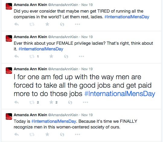 Mascara Flavored Bitch Tears, or Why I Trolled #InternationalMensDay (3/6)