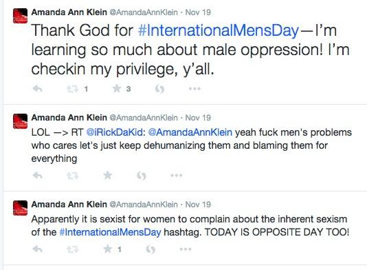Mascara Flavored Bitch Tears, or Why I Trolled #InternationalMensDay (5/6)
