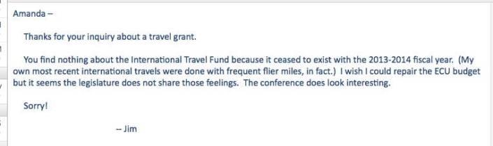 travel grant